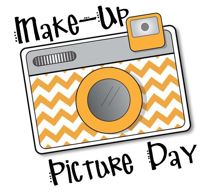 "Camera clip art with words ""Make-up Picture Day"""