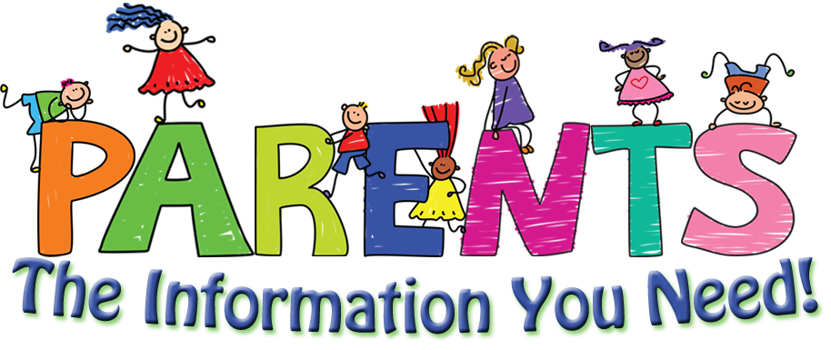 Parents The Information You Need! with images of kids across letters