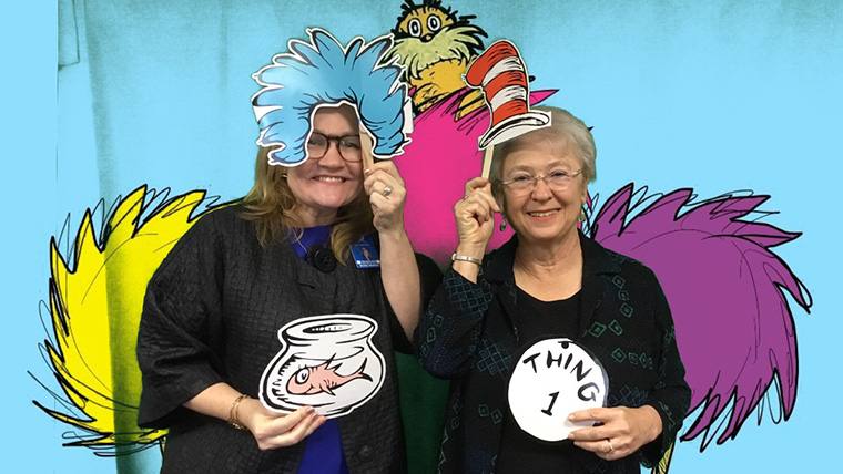 Board Members with Dr. Seuss props